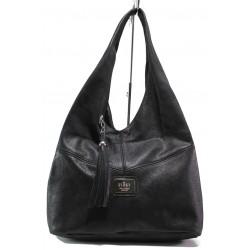 Българска дамска чанта от естествена кожа ЕМИ 100 черен | Дамска чанта | MES.BG