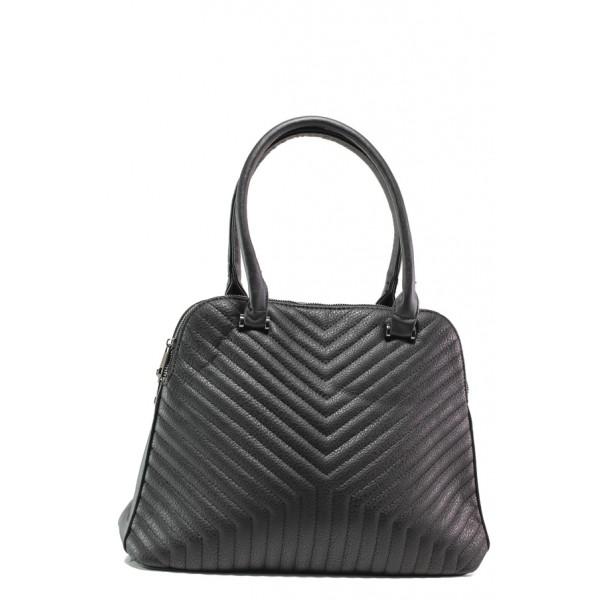 Дамска чанта с модерна визия ФР 6062 черен | Дамска чанта | MES.BG