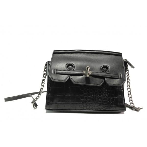 Модерна спортна чанта ФР 8026 черен | Дамска чанта | MES.BG