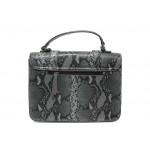 Елегантна дамска чанта с кроко мотив ФР 7126 сив | Дамска чанта | MES.BG
