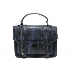 Елегантна дамска чанта с кроко мотив ФР 7126 син | Дамска чанта | MES.BG