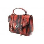 Елегантна дамска чанта с кроко мотив ФР 7126 червен | Дамска чанта | MES.BG