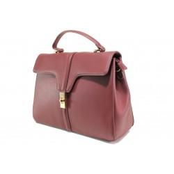 Елегантна чанта с модерна визия ФР 2720 бордо | Дамска чанта | MES.BG