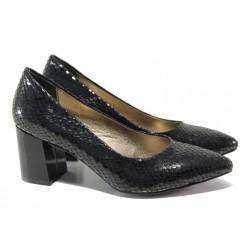 Елегантни дамски обувки ФА 873 черен | Дамски обувки на висок ток | MES.BG