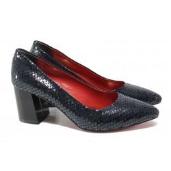 Елегантни дамски обувки ФА 873 син | Дамски обувки на висок ток | MES.BG
