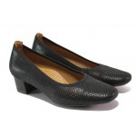 Дамски ортопедични обувки от естествена кожа SOFTMODE 7096 черен | Дамски обувки на среден ток | MES.BG