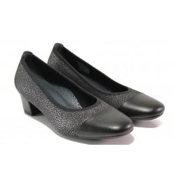 Дамски ортопедични обувки SOFTMODE 7097 черен | Дамски обувки на среден ток | MES.BG