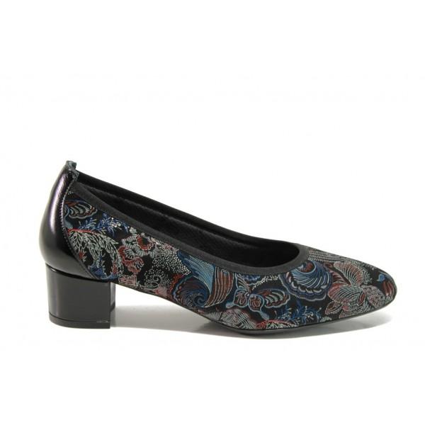 Дамски ортопедични обувки от естествена кожа SOFTMODE 7096 Madison син | Дамски обувки на среден ток | MES.BG