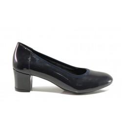 Дамски ортопедични обувки SOFTMODE 1201 Kaylee т.син | Дамски обувки на среден ток | MES.BG