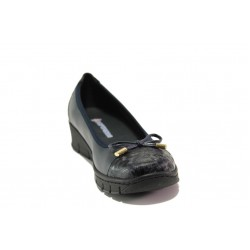 Дамски ортопедични обувки от естествена кожа SOFTMODE 243-00 Tina черен кожа | Равни дамски обувки | MES.BG