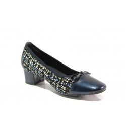 Дамски ортопедични обувки от естествена кожа SOFTMODE 5602-00 Gemma син | Дамски обувки на среден ток | MES.BG