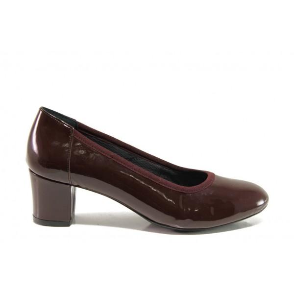 Дамски ортопедични обувки SOFTMODE 1201 Kaylee бордо | Дамски обувки на среден ток | MES.BG