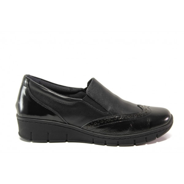 Дамски ортопедични обувки от естествена кожа SOFTMODE 242 Sadie черен   Равни дамски обувки   MES.BG