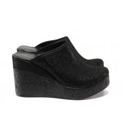 Дамски чехли /тип сабо/ от естествена кожа МИ 473-254 черен | Дамски чехли и сандали | MES.BG