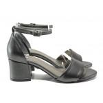 Комфортни дамски сандали ФА 869-1 графит | Дамски сандали на ток | MES.BG