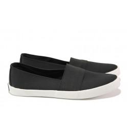 Дамски спортни обувки /тип еспадрили/ АБ 73-19 черен | Равни дамски обувки | MES.BG