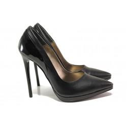 Елегантни дамски обувки МИ 466-6 черен | Дамски обувки на висок ток | MES.BG