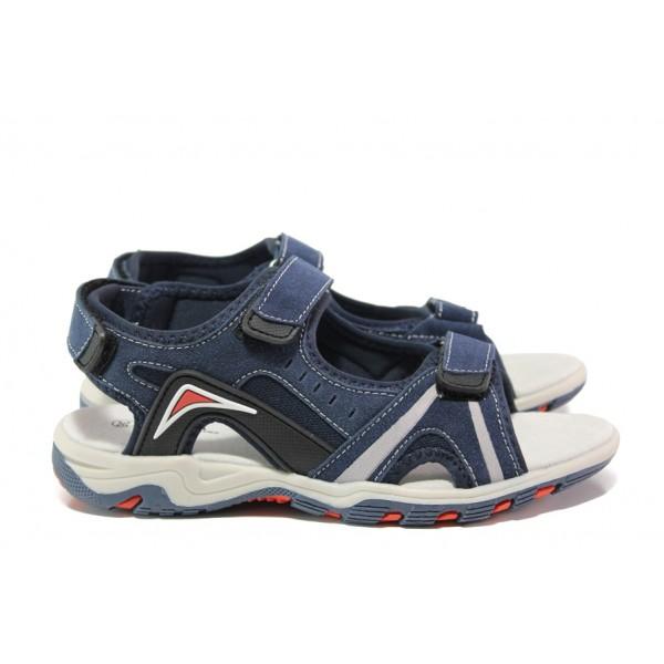 Анатомични детски сандали АБ 17-19 т.син 32/36 | Детски чехли и сандали | MES.BG
