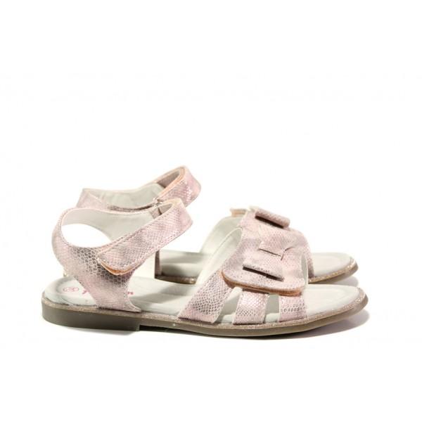 Анатомични детски сандали със стелка от естествена кожа АБ 24-19 розов 31/35 | Детски сандали | MES.BG