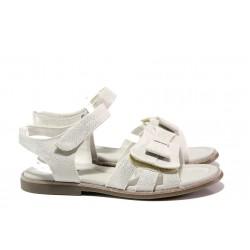 Анатомични детски сандали със стелка от естествена кожа АБ 24-19 бял 31/35 | Детски сандали | MES.BG