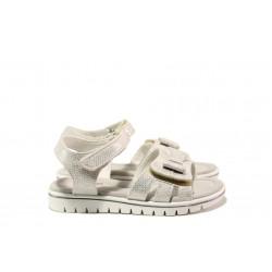 Анатомични детски сандали със стелка от естествена кожа АБ 25-19 бял 26/30 | Детски сандали | MES.BG