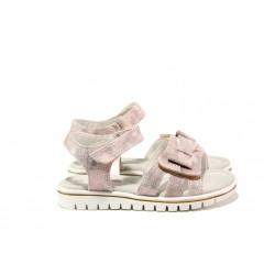 Анатомични детски сандали със стелка от естествена кожа АБ 25-19 розов 26/30 | Детски сандали | MES.BG