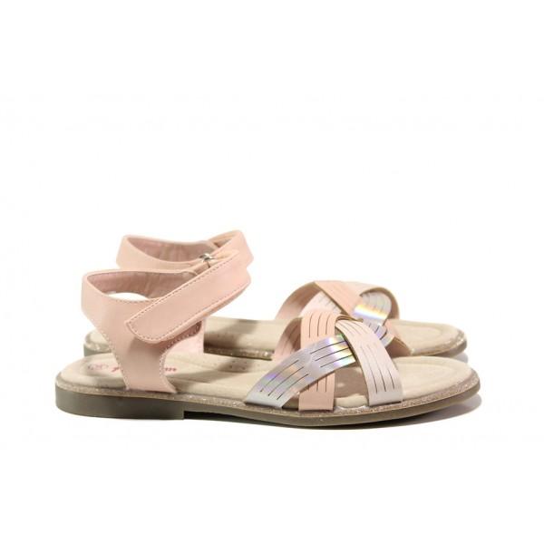 Анатомични детски сандали със стелка от естествена кожа АБ 23-19 розов 31/35 | Детски сандали | MES.BG