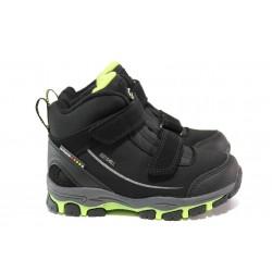 Детски водоустойчиви боти АБ 65-19-1 черен-зелен 27/31 Softshell | Детски боти | MES.BG