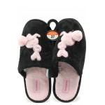 Анатомични дамски домашни чехли Runners 172-1768 черен-розов | Домашни чехли | MES.BG