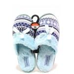 Анатомични дамски домашни чехли Runners 162-14055 син | Домашни чехли | MES.BG
