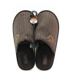 Анатомични мъжки домашни чехли Runners 182-437 кафяв | Домашни чехли | MES.BG