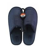 Анатомични мъжки домашни чехли Runners 182-437 т.син | Домашни чехли | MES.BG