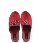 Анатомични домашни пантофи с Bio ходила МА 24454 бордо | Домашни чехли | MES.BG