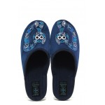 Анатомични домашни пантофи с Bio ходила МА 24263 т.син | Домашни чехли | MES.BG