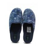 Анатомични домашни чехли с Bio ходила МА 24181 т.син букви | Домашни чехли | MES.BG