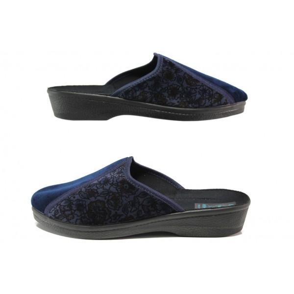 Анатомични домашни чехли с Bio ходила МА 206 т.син | Домашни чехли | MES.BG