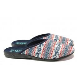 Анатомични домашни чехли с Bio ходила МА 23469 син | Домашни чехли | MES.BG
