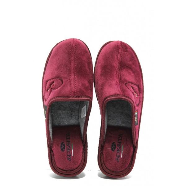 Анатомични български домашни чехли Spesita 671 бордо | Дамски домашни чехли | MES.BG
