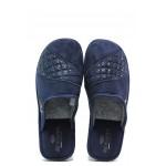 Анатомични български домашни чехли Spesita 633 т.син | Дамски домашни чехли | MES.BG