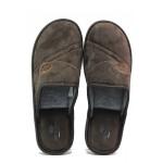 Анатомични български чехли Spesita 642 кафяв | Мъжки домашни чехли | MES.BG