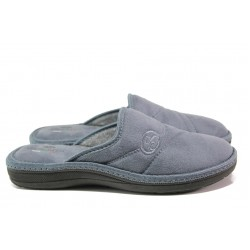 Анатомични български чехли Spesita 642 сив | Мъжки домашни чехли | MES.BG