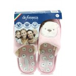 Анатомични дамски чехли Defonseca BARI TOP I VAR2 W548 розов-мече | Домашни чехли | MES.BG