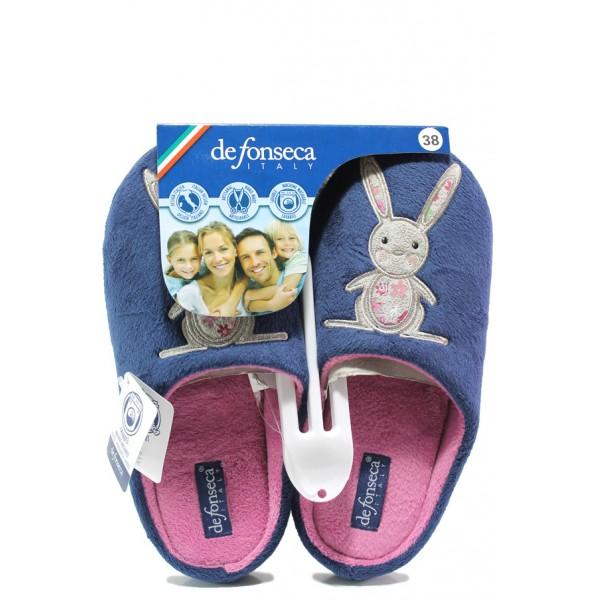 Анатомични дамски чехли Defonseca TORINO W200 син | Домашни чехли | MES.BG