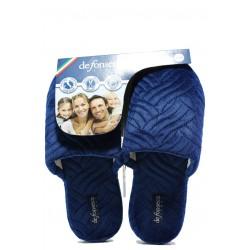 Анатомични дамски чехли Defonseca ROMA TOP I W563 т.син | Домашни чехли | MES.BG