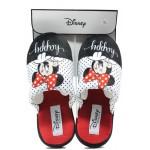 Анатомични дамски чехли Defonseca ROMA I W580 бял-червен Disney | Домашни чехли | MES.BG