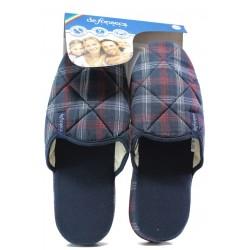 Анатомични мъжки чехли Defonseca ROMA TOP I M522 т.син каре | Домашни чехли | MES.BG