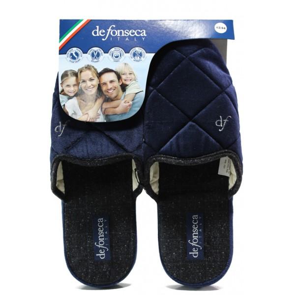 Анатомични мъжки чехли Defonseca MILANOI M542 син | Домашни чехли | MES.BG