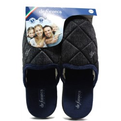 Анатомични мъжки чехли Defonseca MILANOI M542 черен | Домашни чехли | MES.BG