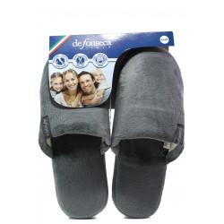 Анатомични мъжки чехли Defonseca ROMA TOP P M15 сив | Домашни чехли | MES.BG