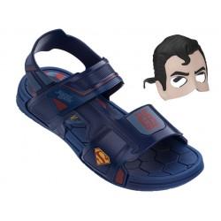 Анатомични детски сандали с лепенки Rider 21855 Супермен син 28/36 | Бразилски чехли и сандали | MES.BG